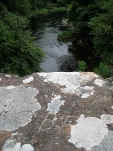 My initials inscribed on Dalgonar Bridge